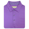 Donald Ross Short Sleeve Solid JERSEY with Floral Print - PLUM