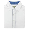 Donald Ross Short Sleeve Solid JERSEY with Floral Print - WHITE