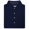 Donald Ross Short Sleeve Solid Jersey Mini Check SELF Collar - NAVY