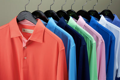 Donald Ross Mens Short Sleeve PRINCE OF WALES, Self Collar - PINK