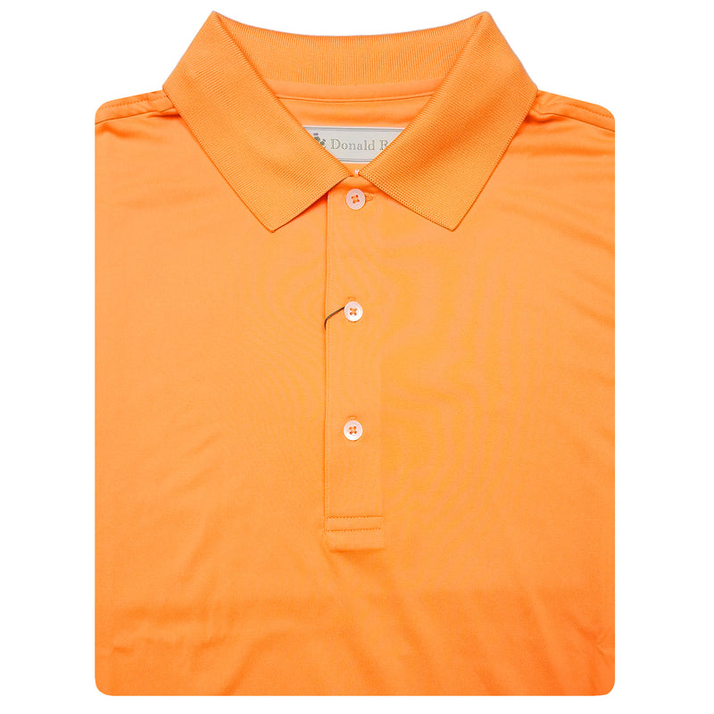 Mens Short Sleeve Classic Jersey KNIT COLLAR - TANGERINE