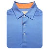 Donald Ross Short Sleeve Solid Jersey SELF Collar - PACIFIC CITRUS