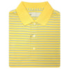 Mens Short Sleeve 3 Color Twin Stripe JERSEY with KNIT Collar - LEMON/SKY/BLUE IRIS