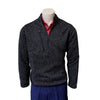Donald Ross Heather Fleece 1/4 Zip Pullover - NAVY
