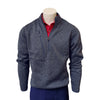 Donald Ross Heather Fleece 1/4 Zip Pullover - STEEL BLUE