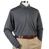 Donald Ross Long Sleeve Polo Knit Collar - CHARCOAL - PRE ORDER