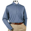 Donald Ross Long Sleeve Polo Knit Collar - STEEL BLUE - PRE ORDER