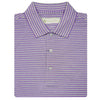 Mens Short Sleeve 2 Color Sport Stripe - ORCHID/MELANGE GREY