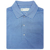 Mens Short Sleeve 2 Color Sport Stripe - ADMIRAL BLUE/GREY