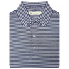 Mens Short Sleeve 2 Color Sport Stripe - NAVY/GREY