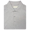 Mens Short Sleeve 2 Color Sport Stripe - WHITE/GREY