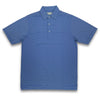 Donald Ross Mens Short Sleeve Micro Stripe JERSEY Polo, Self Collar - ATLANTIC BLUE / MINT