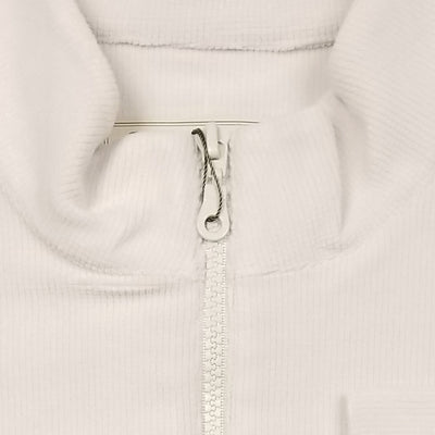 Mens 1/2 Zip Cross-Cut Fleece Pullover LONG SLEEVE - PEARL