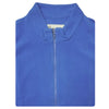 Mens Full Zip Cross-Cut Fleece - VEST - ADMIRAL BLUE