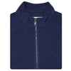 Mens Full Zip Cross-Cut Fleece - VEST - NAVY