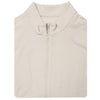Mens Full Zip Cross-Cut Fleece - VEST - PEARL