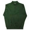 Donald Ross Mens 1/2 Zip 100% Merino Wool Sweater - PINE
