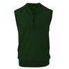 Donald Ross Mens 1/2 Zip 100% Merino Wool Vest - PINE