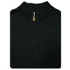 Mens 1/2 Zip Lightweight Merino Wool Pullover - VEST - BLACK