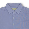 Donald Ross Mens 2 Color Micro Stripe on JERSEY SELF COLLAR Polo - WHITE / IRIS