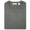 Mens Lightweight Merino Wool Crewneck Sweater - GREY
