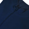 Donald Ross Mens 1/2 Zip Lightweight Sleeveless Stretch Knit Cotton Vest - NAVY