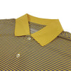 Donald Ross Mens Short Sleeve 2 Color Stripe JERSEY Polo, Knit Collar - LEMON / ATLANTIC