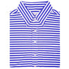 "Mens Short Short Sleeve 2 color ""Bold Stripe"" PIQUE SELF COLLAR, LEFT POCKET - ATLANTIC/CREAM"