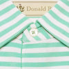 "Mens Short Short Sleeve 2 color ""Bold Stripe"" PIQUE SELF COLLAR - SEAFOAM"