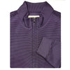 Mens 1/2 Zip Pullover with 2 Lower Pockets - LONG SLEEVE - BLACK ORCHID