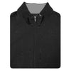 Mens 1/2 Zip Pullover With 2 Pockets VEST- BLACK