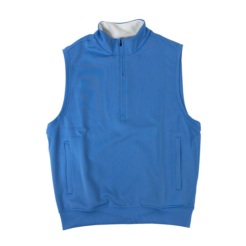 Donald Ross 1/2 Zip Pullover With 2 Pockets VEST - PACIFIC