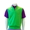 Donald Ross Mens 1/2 Zip Pullover with 2 Lower Pockets - VEST - IRISH GREEN
