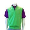 Donald Ross 1/2 Zip Pullover With 2 Pockets VEST- KEYLIME - Final Sale