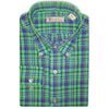 Donald Ross Woven Long Sleeve Button Down IRISH GREEN