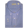 Mens Woven Long Sleeve Button Down BLUE MULTI