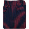 Donald Ross Two Stripe Boxer Short - Navy/Cardinal