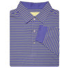 Mens Long Sleeve 2 Color Sport Stripe Jersey - BLUE IRIS/LEMON