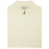Mens 1/2 Zip Sweater VEST - CREAM