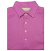 Mens Short Sleeve Classic PIQUE, SELF COLLAR, LEFT POCKET - ROSEBUD