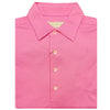 Mens Short Sleeve Classic PIQUE, SELF COLLAR, LEFT POCKET - AZALEA