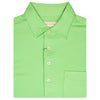Donald Ross Mens Short Sleeve Classic PIQUE, SELF COLLAR, LEFT POCKET - KEYLIME