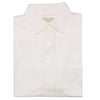 Mens Short Sleeve Classic PIQUE, SELF COLLAR, LEFT POCKET - WHITE