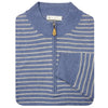 Mens 1/2 Zip Lightweight Pullover - LONG SLEEVE - STEEL BLUE