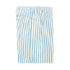 2 Color Vertical Stripe Boxer Short - WHITE CORNFLOWER