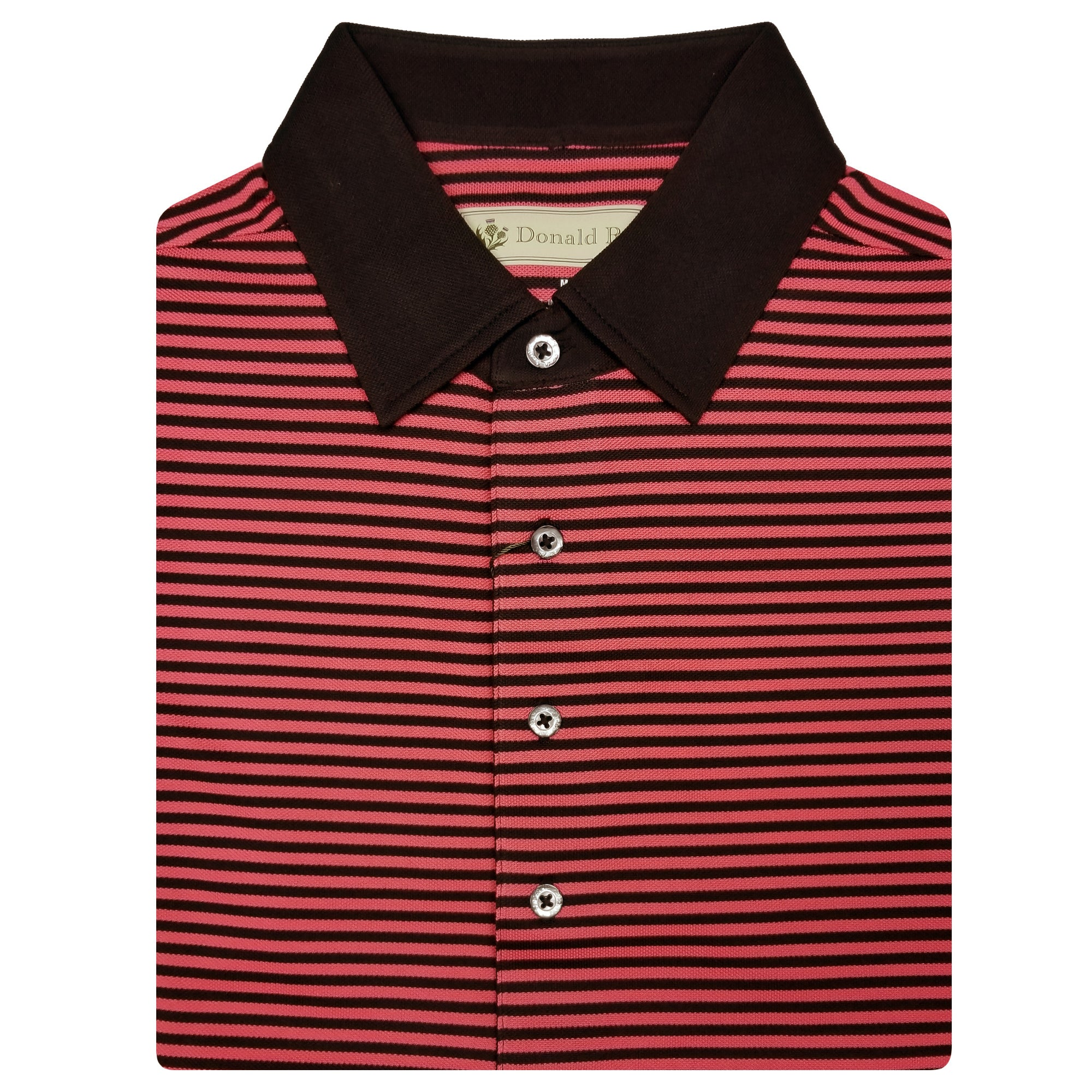 3db617d187d7c Mens Short Sleeve 2 Color Bold Stripe PIQUE on SOLID SELF COLLAR - BLA -  Golf Anything US