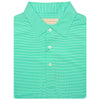Mens Short Sleeve 2 color micro stripe on JERSEY SELF COLLAR - KEYLIME/CREAM