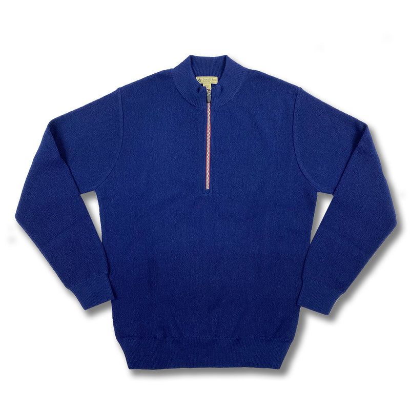 Donald Ross Mens Long Sleeves Alpaca Links Stitch - NAVY