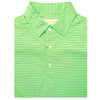 "Mens Short Sleeve ""Frame Stripe"" JERSEY - SELF COLLAR - KEYLIME"