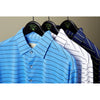 Mens LONG Sleeve Pencil Stripe Polo- PRE ORDER